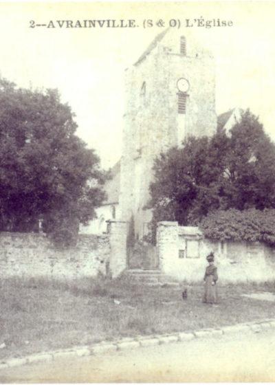 L'Eglise et le cimetière en 1900