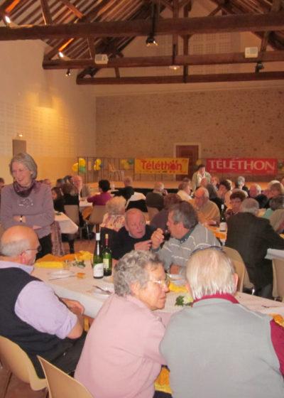 Téléthon 2010: choucroute organisée par le club des Câlins