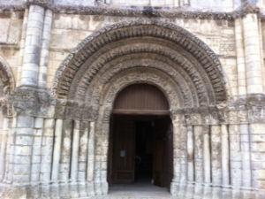 Saintes, portail de l'Abbaye