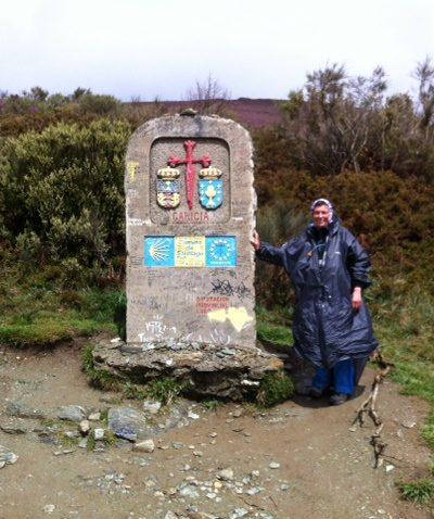 La frontière Castille/Galice à 1300 m d'altitude